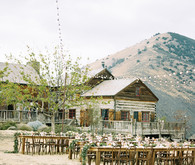 Rustic Figueroa Farmhouse wedding reception