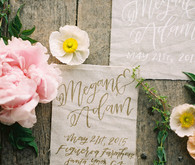 Hand lettered vintage invitations