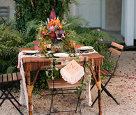 Tropical wedding tables cape