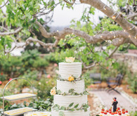 Four tiered wedding cake