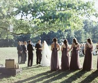 Outdoor Georgia wedding ceremony
