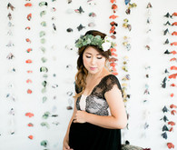 Flower garland backdrop