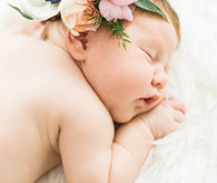 flower crown newborn photos