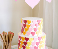 heart birthday cake