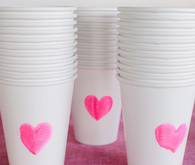heart stamped cups