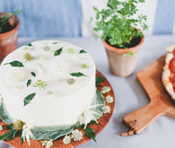 white floral cake