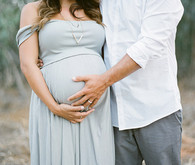 Family maternity photos in San Diego