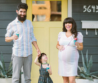 Modern family maternity photos
