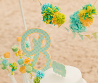 blue and yellow baby shower ideas