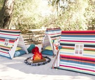 striped pup tents