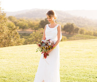 Wine country bridal portrait