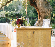 Rustic wedding bar