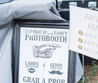 Photo booth signage