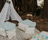 Northern California camp wedding