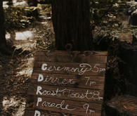 Rustic wooden signage