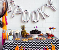 black and white halloween ideas
