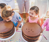 twin birthday party cakes