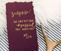Surprise wedding invite