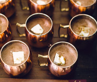 Hot chocolate wedding cocktails