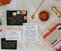Modern wedding invitation suite