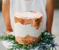 Copper foil wedding cake