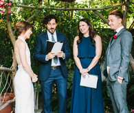 Backyard fiesta wedding ceremony