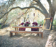 Moody forest wedding tablescape