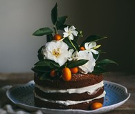 Pumpkin naked cake