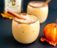 Pumpkin spiked horchata cocktail