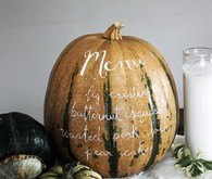 Pumpkin menu