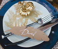 Gold pumpkin escort card