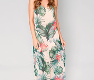 Tropical bridesmaid gown