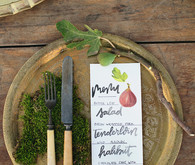 Vintage fall place setting
