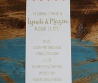 Urban bohemian wedding invitation