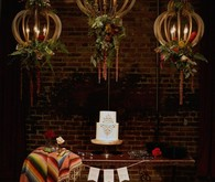 Bohemian wedding cake display