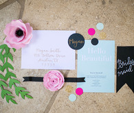 Bridal shower invitation suite