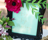 Bridal shower signage