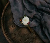 Fall wedding boutonniere