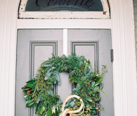 Winter wedding wreath
