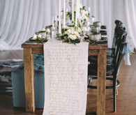 Calligraphy table runner
