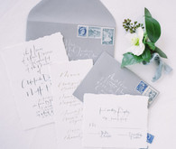 Winter blue wedding invitation suite