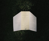 Modern wedding programs