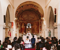 Romanesque church ceremony