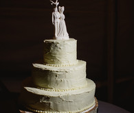 Rustic wedding cake