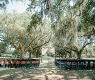 Outdoor Charleston wedding ceremony