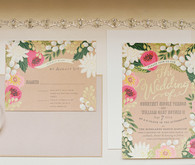 Vintage wedding invitation suite