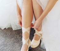 Ballet slippers wedding shoes