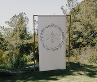 Monogramed wedding signage