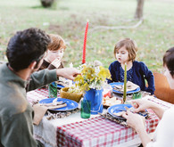 Fall farm dinner outside