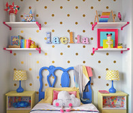 bright creative girls room